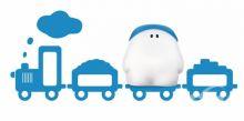 Buddy train kinkiet 1x15W E27 niebieski