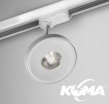 Kari_17 reflektor szynowy biały struktura 8W LED 3000K