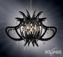 Medusa oprawa wiszaca 1x100W E27 czarny