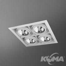 Squares lampa wpuszczana 4x100W GU10 230V biała (mat)