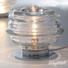 Onda lampa stołowa 75W E27 chrom szkło wykonane ręcznie transparentne