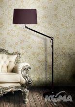 Wiena lampa podłogowa stojąca 1x60W E27 230V czarny / chrom / brązowy abażur