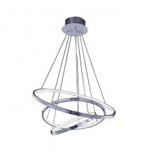 Wheel3  lampa wisząca chrom średnice Φ45 Φ60 Φ75 cm 80W 3000k 4800lm