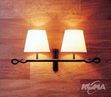 Ferrara 2 luces kinkiet 2x60W E27 grafitowy bawelna
