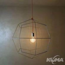 Braga lampa wisząca srebrna matowa/czerwona 1x60W E27