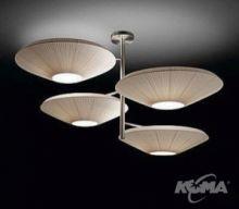 Siam 4 luces oprawa wiszaca 12x23W E27 nikiel/kremowy