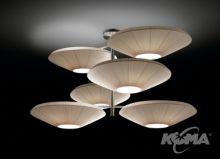 Siam 6 luces oprawa wiszaca 18x23W E27 nikiel/kremowy