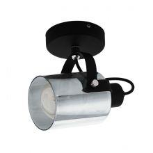 Berregas reflektor natynkowy czarny/transparentny 1x28W E27
