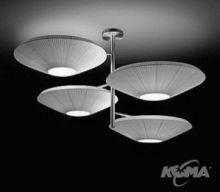 Siam 4 luces oprawa wiszaca 12x23W E27 nikiel/czerwony