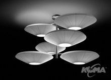 Siam 6 luces oprawa wiszaca 18x23W E27 nikiel/czerwony