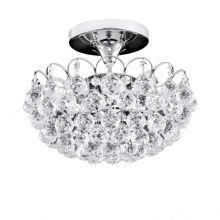 Kristal_klassich lampa sufitowa chrom z kryształowymi kulami asfour crystal  4x40W E14