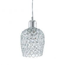 Bonares lampa wisząca 1x60W E27 230V chrom/transparentna