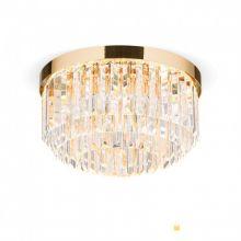 Prism led plafoniera sufitowa złoty kryształ  40W LED 3000K