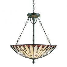 Alahambre lampa wisząca 4x100W E27 230V brąz vintage