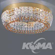 ---^kristall plafon hal 5x60W g9/230v sr.40 gold/t