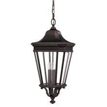 Cotswold Lane lampa wisząca zewnętrzna 3x60W E14 230V brązowa