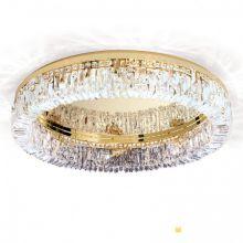Ring lampa sufitowa pozłacana 24k śr.75cm  8x40W E14 230V  scholer kryształ transparentny