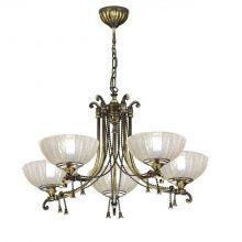 Granada lampa wisząca żyrandol 5x60W patyna