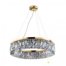 Ring żyrandol z pierścieniem, 60 cm, pozłacany 24k  6x40W E14 scholer kryształ  e14 scholer kryształ