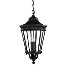 Cotswold Lane lampa wisząca zewnętrzna 3x60W E14 230V czarna