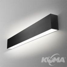 Set Tru kinkiet 86cm 37.2W LED 230V czarny (mat) ciepła barwa CRI>80