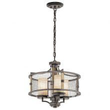 Lampa wisząca ahrendale 3x100W E27 żelazo