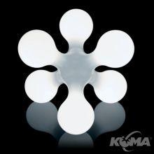 Atomium lampa podlogowa 6x40W E14 d58cm white