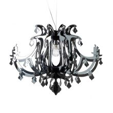 Ginetta lampa wisząca 1x10W E27 230V srebrna
