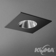 Ledsquare oprawa wpuszczana 10.8W LED 230V czarna (mat)