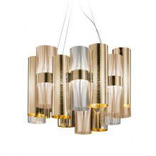 LA LOLLO oprawa wisząca 1x28W LED gold/fume