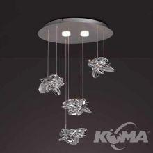 Nido lampa sufitowa 24W + 10W LED 3000K 230V chrom