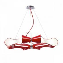Ora rojo lampa wiszaca 8x13W E27 czerwony lakier