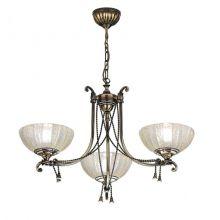 Granada lampa wiszaca żyrandol patyna połysk 3pł 3xE27 max 60W max