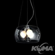 Cosmo lampa wisząca 50cm. 3x60W E27 transparentna