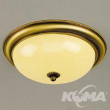 Plafon old lamp E14 2x60W 26cm patina/champ-mat