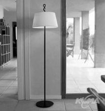 Ferrara pie movil lampa podlogowa 1x60W E27 braz/bawelna