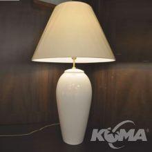 Lofi lampa stołowa ceramiczna spękana ecru 60W E27 plus abażur