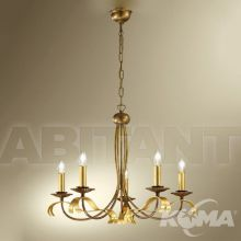 Ballerina lampa wisząca 5x60W E14 230V złota