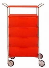 Mobil szafka Z raczkami na kolkach 4sz 67x47.5x98cm pomaranczowy