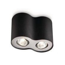 Pillar lampa sufitowa 2x35W GU10 230V czarna