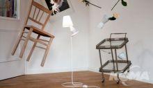 Flapflap10 lampa podłogowa biała 1x48W E14 h83cm d33cm