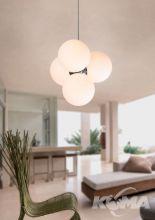 Ball lampa wisząca 4x40W E14 230V chrom / biała