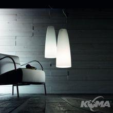 Lampa wiszĄca pasha śr 45cm szkło białe