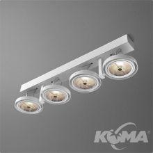 Bares reflektor biały (połysk) 4x100W AR111 230V