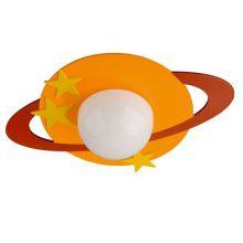 Cronos Kico plafon dziecięcy 1x40W E27 230V pomarańczowy