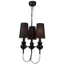 Baroco lampa wisząca 3x40W E14 230V czarna