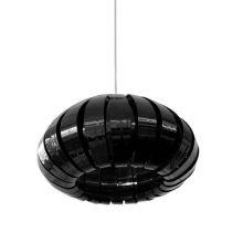 Zucca lampa wisząca 1x60W E27 230V czarna