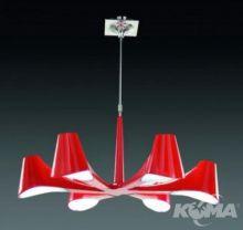 Ora rojo lampa wiszaca 6x13W E27 czerwony lakier
