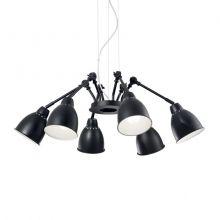 Newton sp6 lampa wisząca czarna 6x60W E27 230V