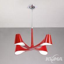 Ora rojo lampa wiszaca 4x13W E27 czerwony lakier